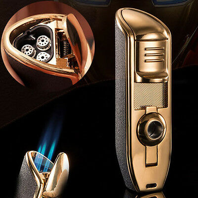New Classical Windproof Cigar lighter Refillable Butane Cigarette Flame Lighter
