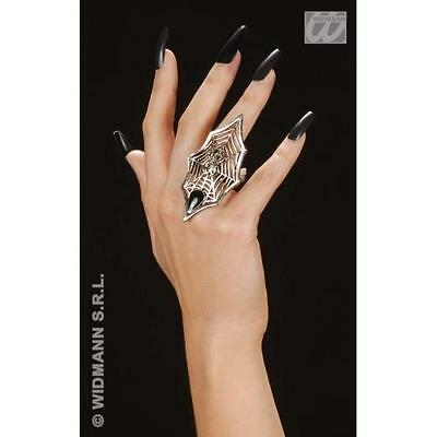 Gothic Spider & Web Ring Halloween Witch Fancy Dress Costume Accessory