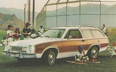1977 Ford Pinto Squire Wagon ORIGINAL Factory Postcard my0795