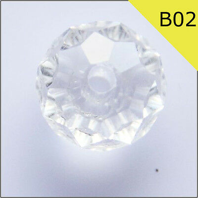 20pcs Swarovski 8*6mm Clear rondelles crystal Beads