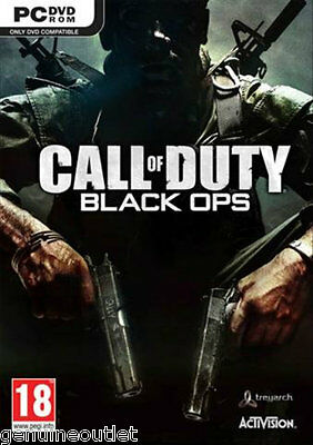 CALL OF DUTY BLACK OPS for PC XP/VISTA/7 (DVD-ROM) SEALED NEW