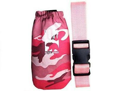 UDAP Pepper Power Bear Spray Repellant Pink Camo Holster
