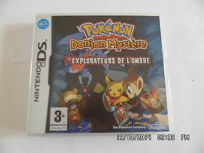 JEU NINTENDO DS : POKEMON DONJON MYSTERE explorateurs de l'ombre    G24