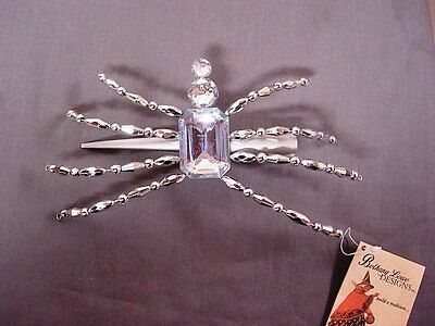 Bethany Lowe Halloween Silver Spider Clip New