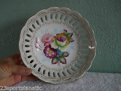 VC AG CO CHINA FRUIT BOWL MADE IN JAPAN FLOWERS