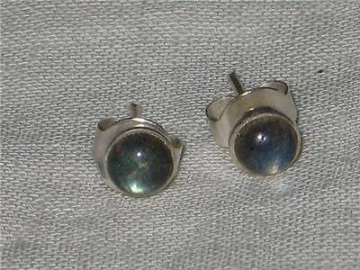 Labradorite Stud Earrings Coven Witch Estate Open 3rd Eye ESP Psychic Aid Amulet