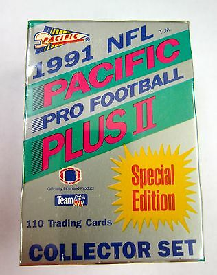 1991 PACIFIC NFL PRO FOOTBALL  PLUS II SPECIAL EDITION 110 CARD COLLECTOR SET