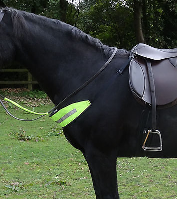 Fluorescent hi viz chest strap - yellow or pink - for horse riding