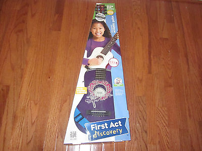 * Super Fun First Act Discovery Child Purple Beginner Acoustic Guitar *
