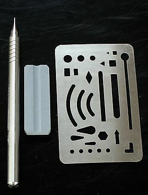 Modeling Tool Set Scriber Scribing Needle and Engraved Forming Block Board 2 pcs
