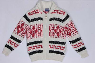 Vintage Pendleton Big Lebowski Dude Cardigan Cowichan Wool Sweater Jacket M