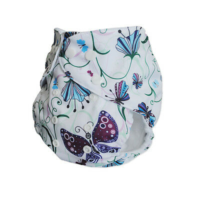 Butterfly Baby Cloth Diaper for Girl Washable Reusable Nappy W/Insert in US