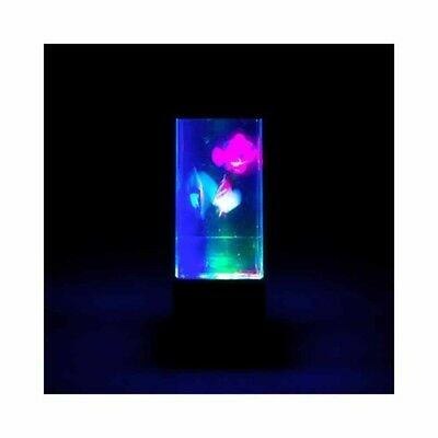Fish Lamp Colour Changing LED Swimming Fish Jellyfish Neon Relaxing Light Night