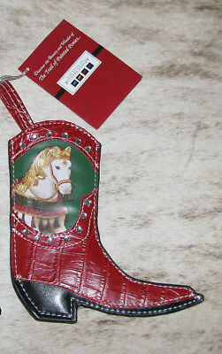 """TRAIL OF PAINTED PONIES Noel Mini Stocking Boot Ornament - Holiday 2009 6""""tall"""