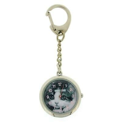 Keith Kimberlin Pussy Cat Dial Ladies Keyring Watch KK6