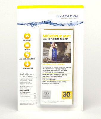 Katadyn Micropur Purification Tablets (Package of 30) 8013692
