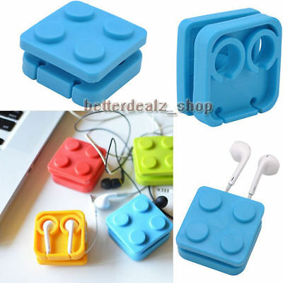 Block Earphone Holder Wire Organizer Cable Cord Wrap Earbud Earplug Winder New