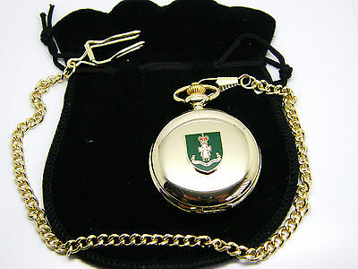 The Green Howards Badge Pocket Watch & Chain Army Military Gift