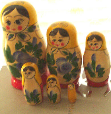 TRADITIONAL RUSSIAN NESTING DOLL 6 PCS  LARGE 5.3*
