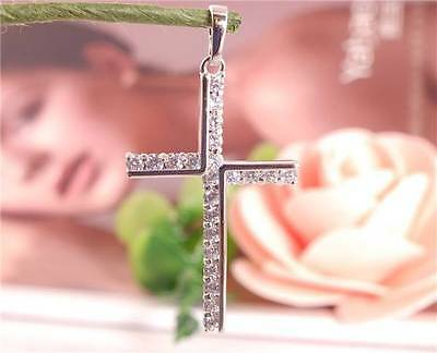 Wholesale 1pc 925 Sterling Silver Cross Nice Gemstone Refined Necklace Pendant