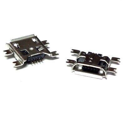 TWO Micro USB Type B Female 5Pin Socket 4Legs SMT SMD Soldering Connector - UK