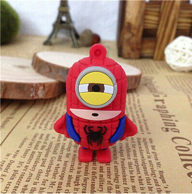 New Minions Spider Man Model 8GB USB 2.0 Enough Memory Stick Flash pen Drive S19