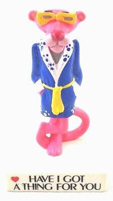 "PVC Pink Panther ""Have I Got A Thing For You"" on Base 1989 Toy Lot Set Topper"