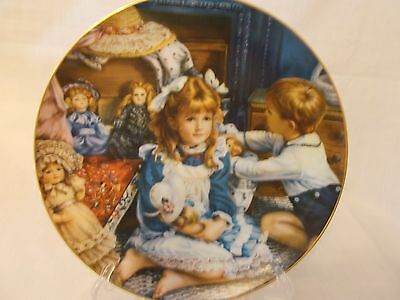 """1988 Reco Collectible Plate """"Grandma's Trunk"""" Barefoot Children Collection"""