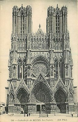 51 Reims Cathedrale Facade - Nd