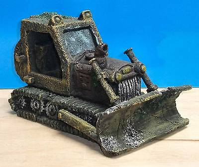 Bulldozer Large Wreck Aquarium Ornament Fish Tank Bowl Decoration New