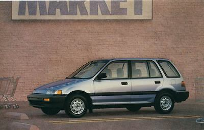 1988 Honda Civic Wagon ORIGINAL Factory Postcard my0979