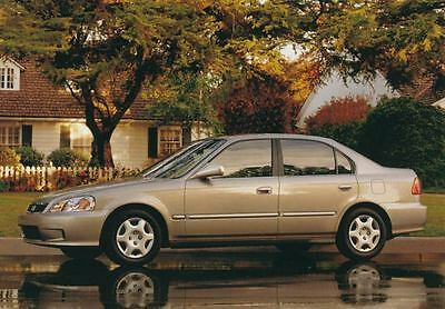 2000 Honda Civic Sedan ORIGINAL Factory Postcard my1041