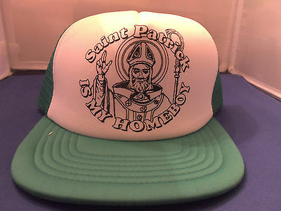 ST PATRICK IS MY HOMEBOY IRISH ADULT ADJUSTABLE BASEBALL HAT DAY IRISH IRELAND