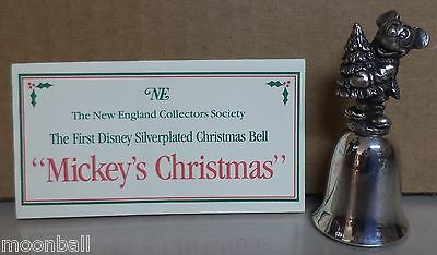 RARE! Disney's MICKEY MOUSE from MICKEY'S CHRISTMAS Sliver Plated Bell by NE