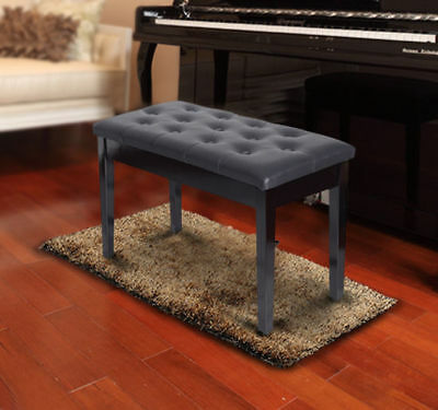 Terrific Homcom Leather Padded Piano Bench W Storage Double Duet Beatyapartments Chair Design Images Beatyapartmentscom