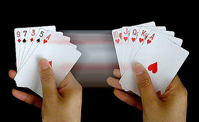 B032 Close-Up Magic Trick Normal Cards Change Into Straight Flush In A Flash+DVD