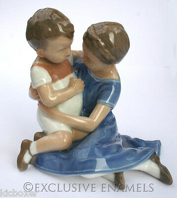 Vintage Bing & Grondahl Brother & Sister Porcelain Model Figurine