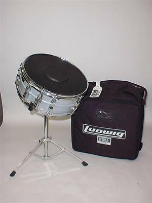 "Ludwig 14""x5"" Snare Drum - Vintage 80's w/ Bag, Stand & Pad"
