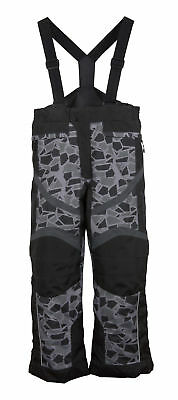 Boys Youth Mossi Mosaic Snowmobile Bibs Snow Pants Winter Black w/ Mosaic
