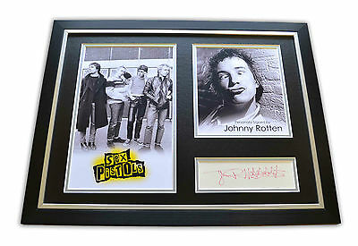 Johnny Rotten Signed 12x16 Framed Photo Display Sex Pistols Memorabilia + COA