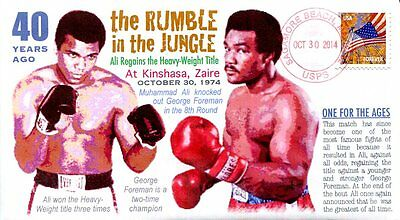 "COVERSCAPE computer designed 40th anniversary ""Rumble in the Jungle"" event cover"