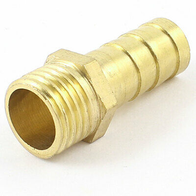 "1/4"" PT Male x 10mm Hose Barb Air Gas Piping Brass Quick Coupler Fitting"
