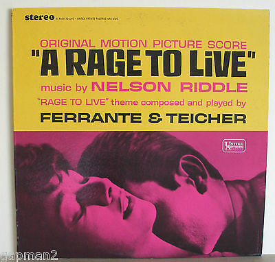 A Rage To Live 1965 UA Soundtrack LP Nelson Riddle Ferrante and Teicher