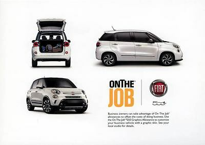 2014 Fiat 500L ORIGINAL Large Factory Postcard my1198