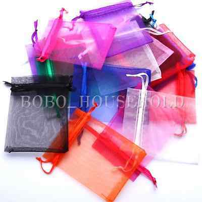 25/50/100pcs Strong Organza Wedding Gift Bag Pouch Jewelry Candy Package 7x9cm