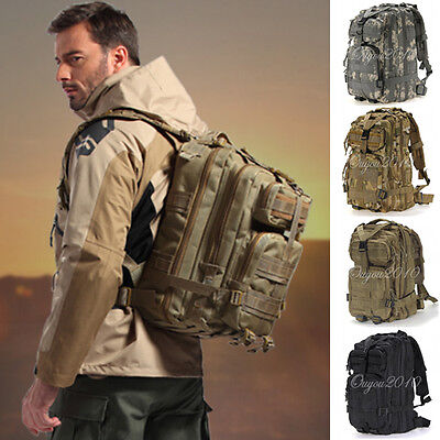 30L Military Tactical Backpack Molle Rucksacks Camping Hiking Trekking Bags New