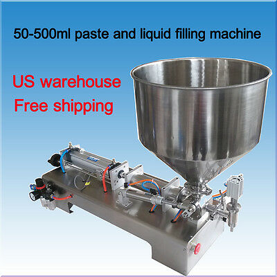 liquid and paste filling machine 50-500ml for cream shampoo cosmetic tooth paste