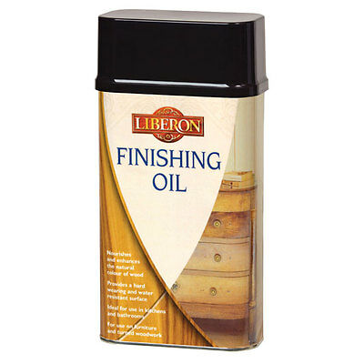 Liberon Finishing Oil 250ml Wood Protection Ideal for Use in Kitchen or Bathroom