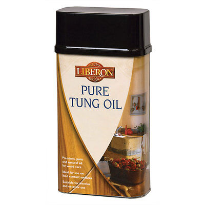 Liberon Pure Tung Oil 1 Litre Premium, Pure and Natural Oil for Wood Care