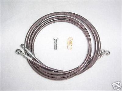 Yamaha Banshee Stainless Front Brake Lines New 2 Line Kit +3  A-arms Length